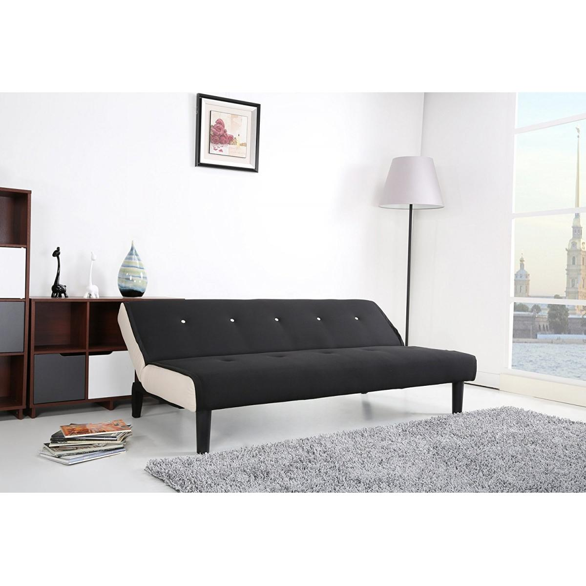 paulo schlafcouch schwarz weiss schlaffunktion sofa ebay. Black Bedroom Furniture Sets. Home Design Ideas