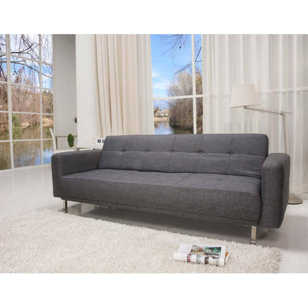 schlafcouch schlafsofa couch sofa schlaffunktion sofagarnitur stoff grau ebay. Black Bedroom Furniture Sets. Home Design Ideas