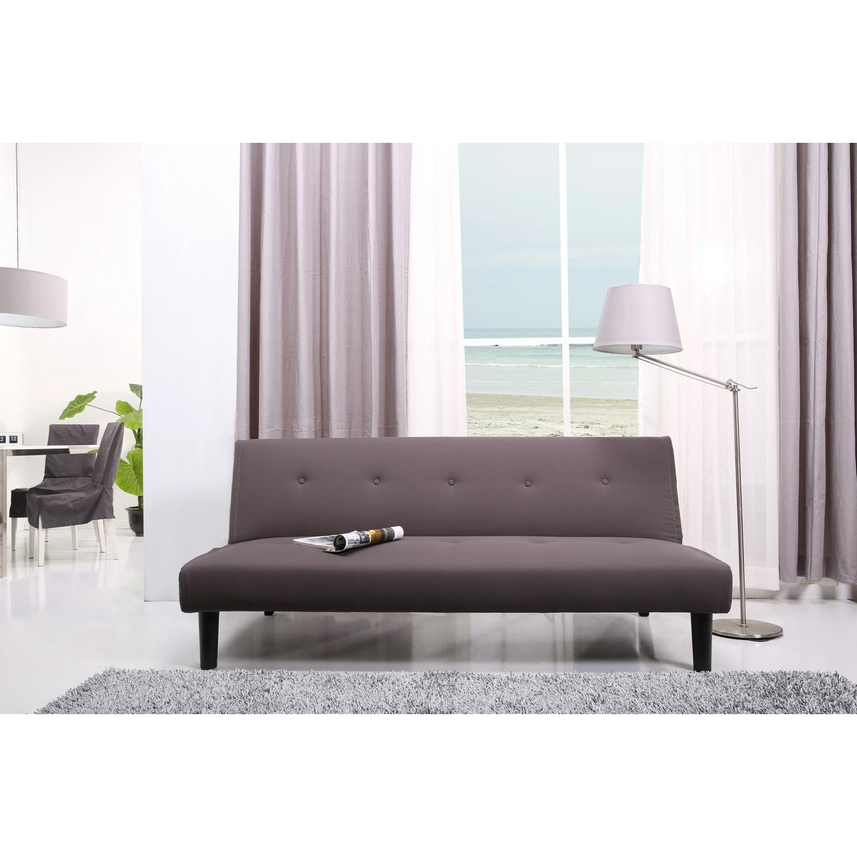 schlafsofa schlafcouch klappcouch klappsofa sofa couch sitzgarnitur stoff braun ebay. Black Bedroom Furniture Sets. Home Design Ideas