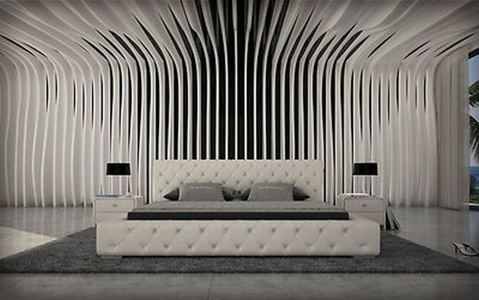 bett pu lederbett bett polsterbett designerbett futonbett 180 x 200 cm weiss ebay. Black Bedroom Furniture Sets. Home Design Ideas