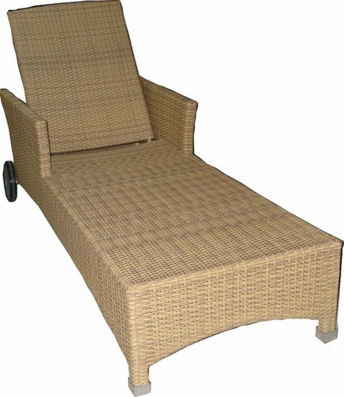 sonnenliege gartenliege poolliege rattan liege relaxliege garten pool natur ebay. Black Bedroom Furniture Sets. Home Design Ideas